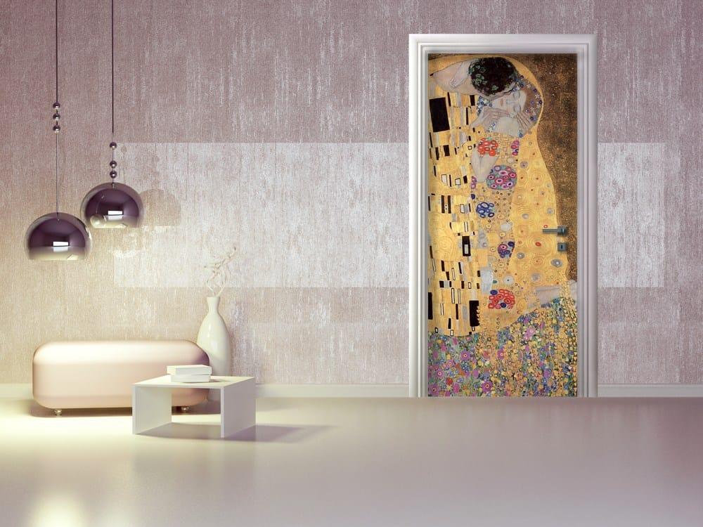 Adesivo per porte il bacio di gustav klimt collezione arte for Carta da parati per porte