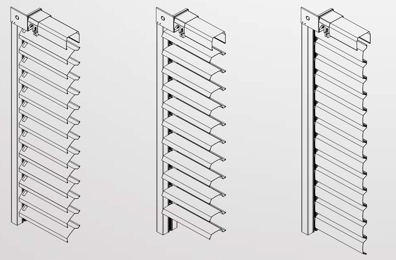 brise soleil orientable en aluminium incosun by in co var. Black Bedroom Furniture Sets. Home Design Ideas