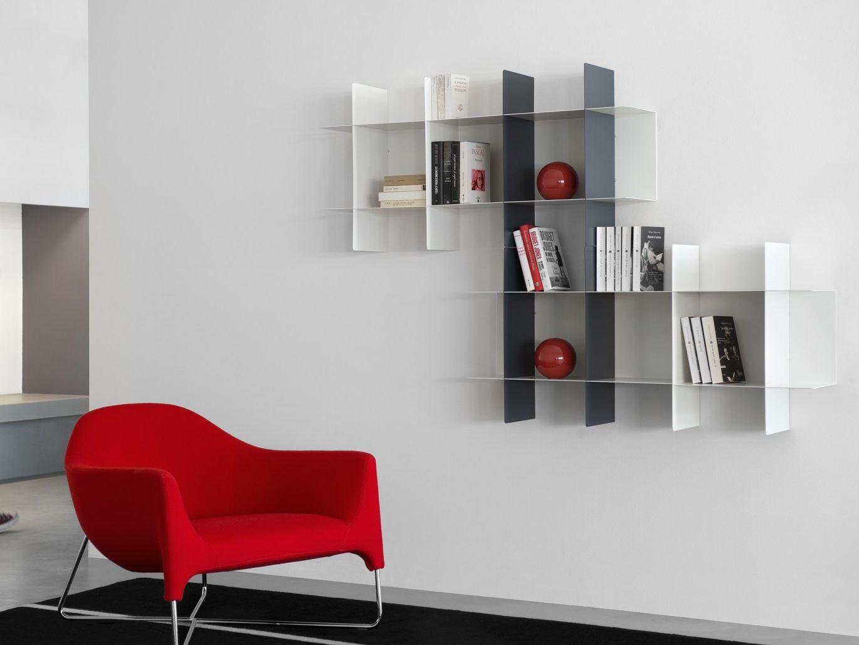 Libreria modulare con mensole ad incastro innesto by meme design ...