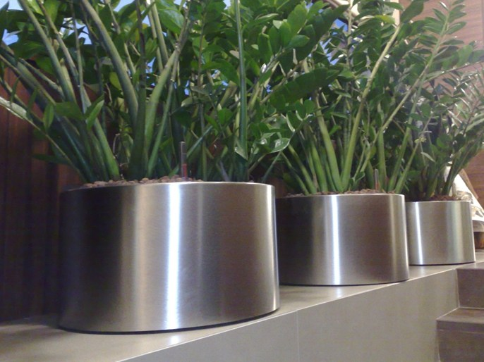 Round Stainless Steel Plants Pots | Archiproducts