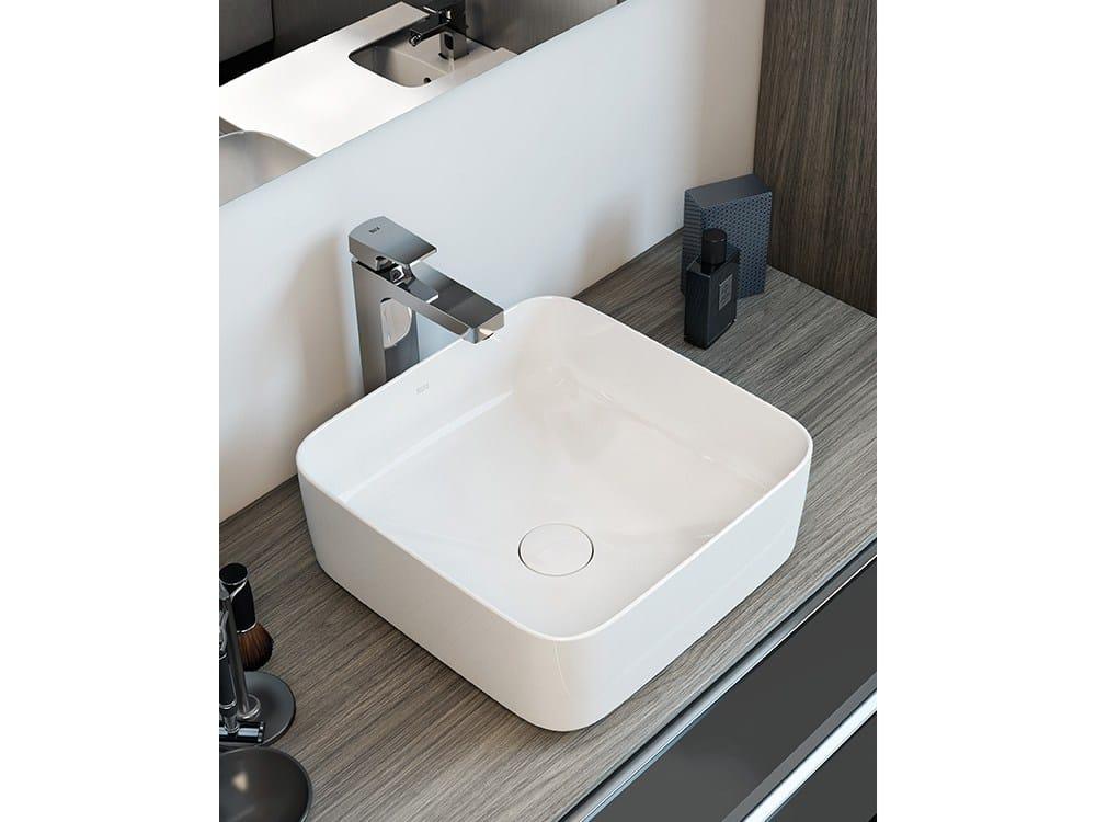 Lavabos cuadrados lavabo sobre encimera round lavabos for Mueble inspira roca
