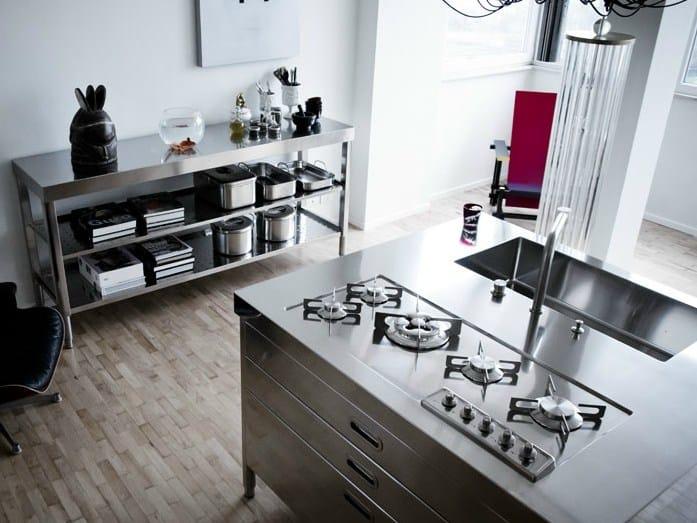 Isola cucina 130 1 modulo cucina in acciaio inox by alpes inox - Cucina in acciaio inox ...