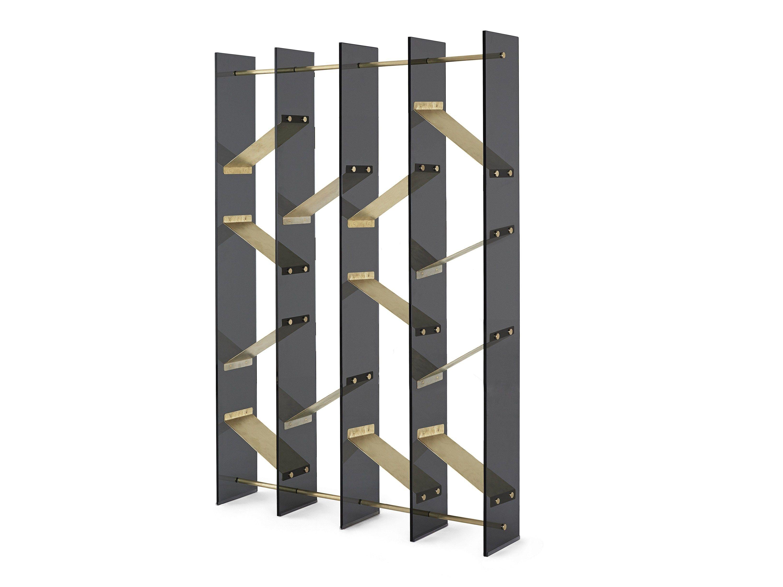 freestanding crystal bookcase isola by gallotti radice design massimo castagna. Black Bedroom Furniture Sets. Home Design Ideas