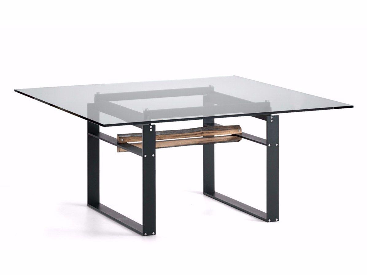 tavolo quadrato in cristallo jerez by cattelan italia