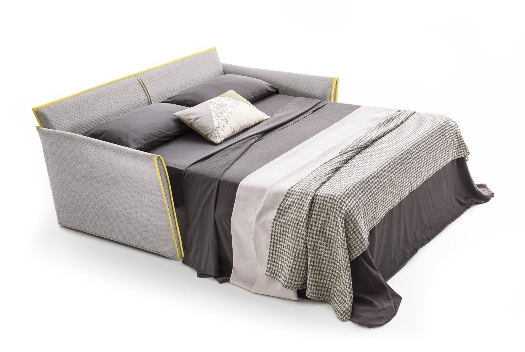Velvet sofa bed with removable cover JOLIE by Felis #937D38