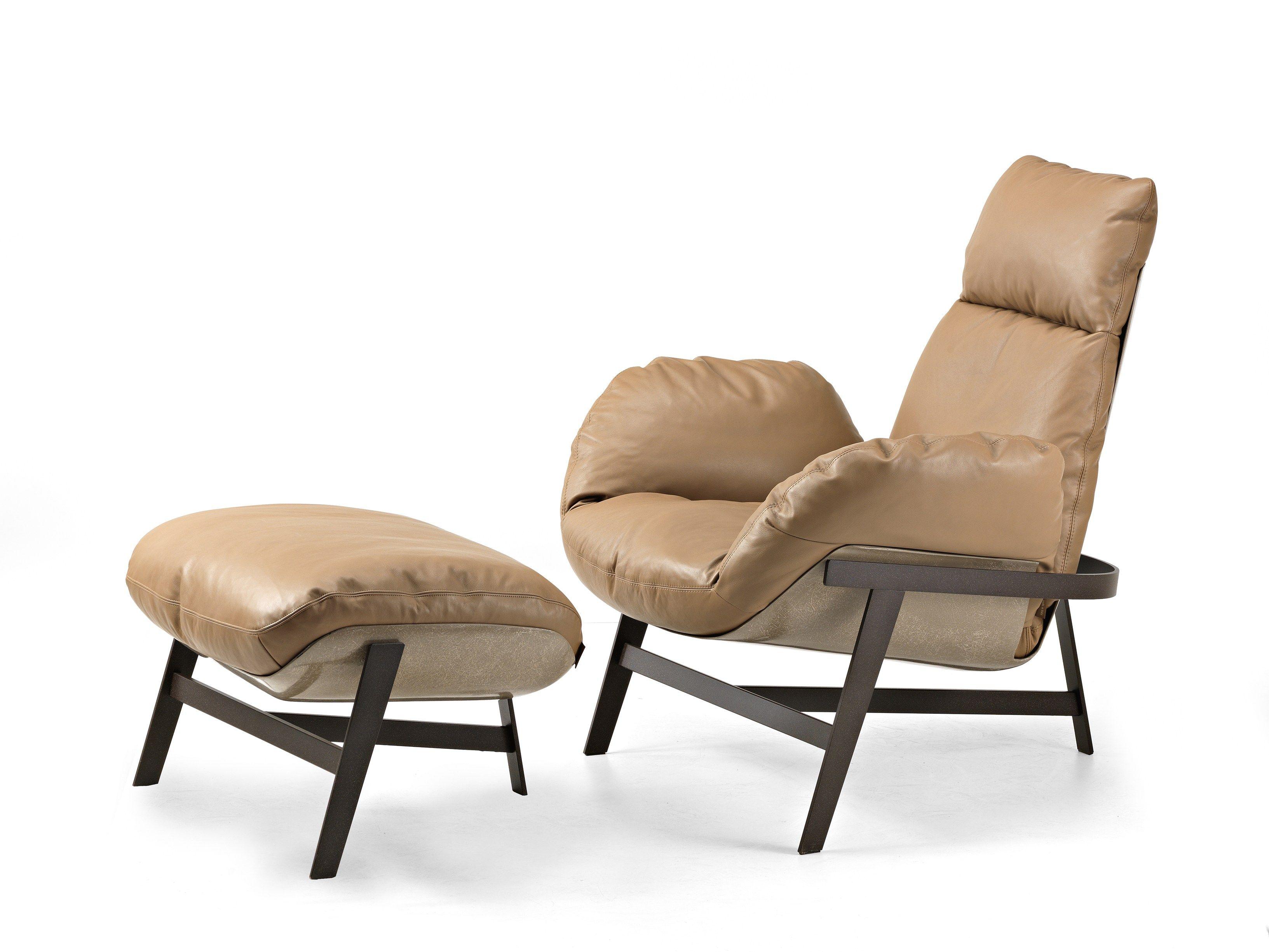 Leather Armchair Jupiter By Arketipo Design Mauro Lipparini
