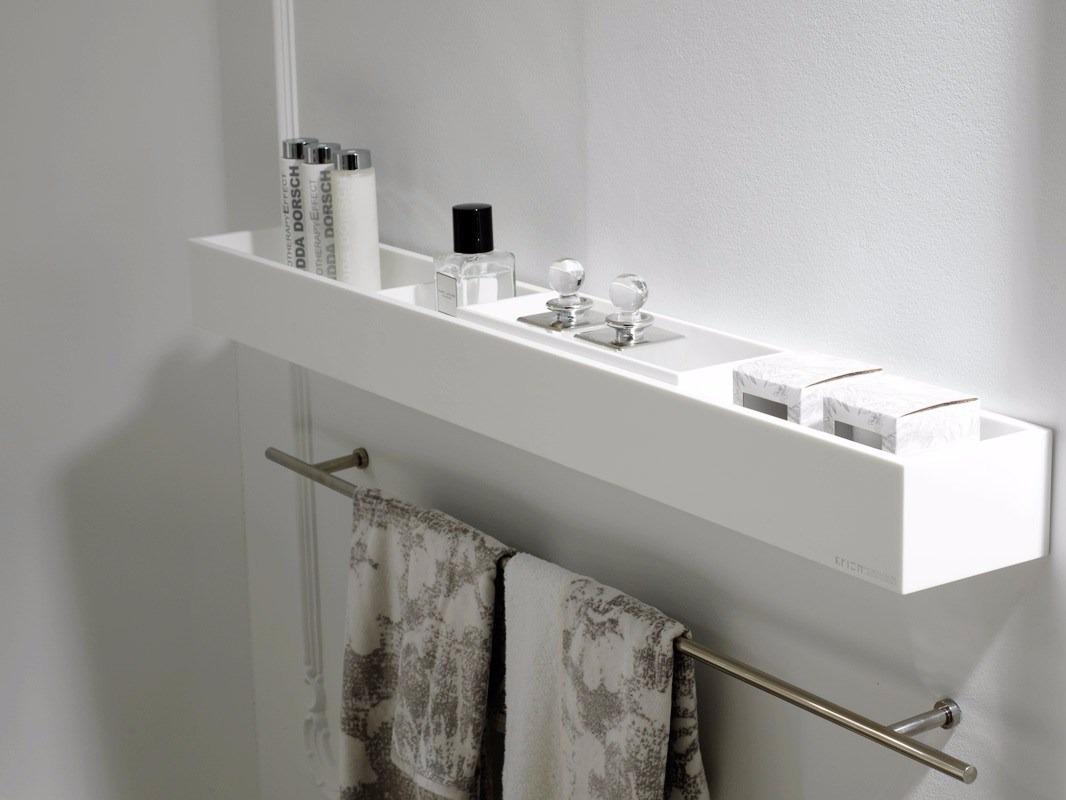 K krion bathroom wall shelf by systempool for Bathroom wall