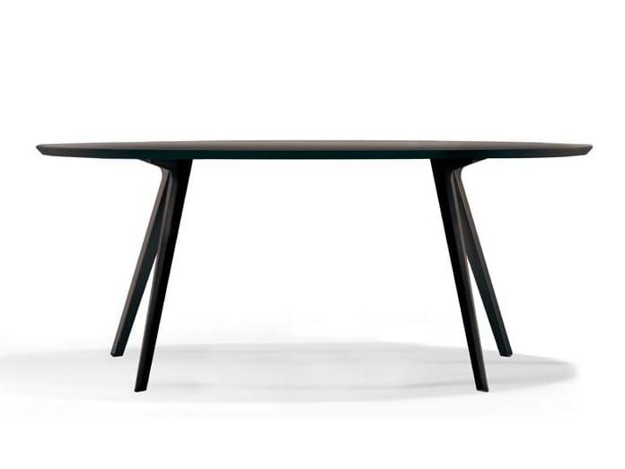 Katana tavolo ovale by potocco design mauro lipparini - Tavolo ovale design ...