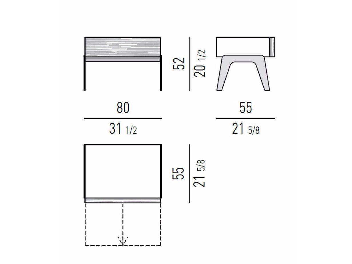 Bedside Table Kirk Nightstand By Minotti