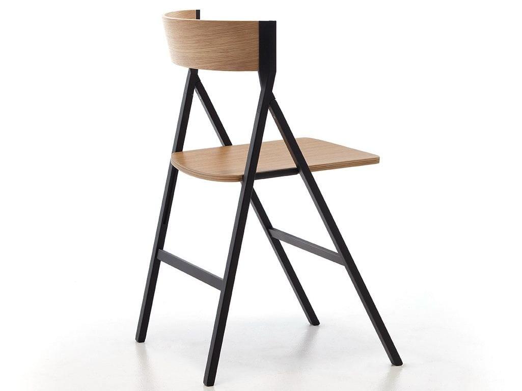 Sedia pieghevole in legno klapp by area declic design for Sedie design 3d