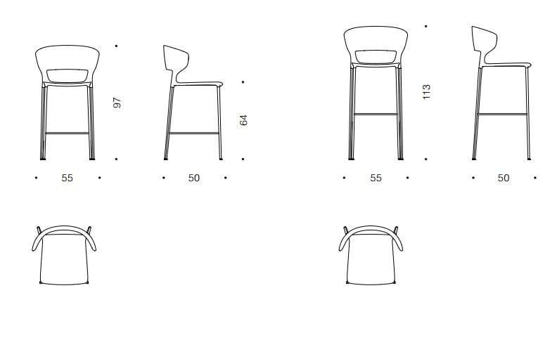 Koki sedia alta by desalto design archirivolto for Sedia koki desalto