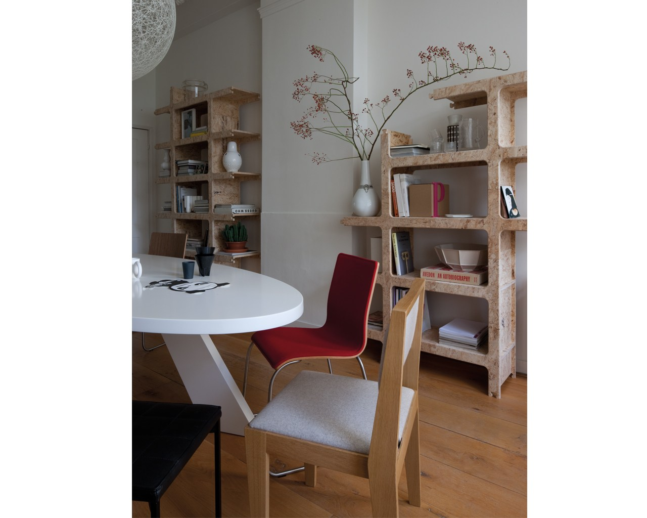 Libreria a giorno componibile modulare in osb kwart by palau ...
