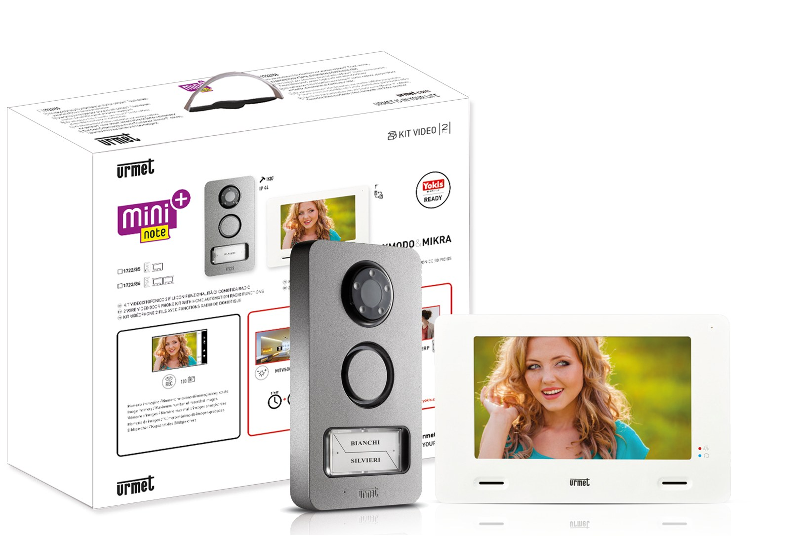 Kit videocitofonico mini note by urmet - Interphone video urmet ...
