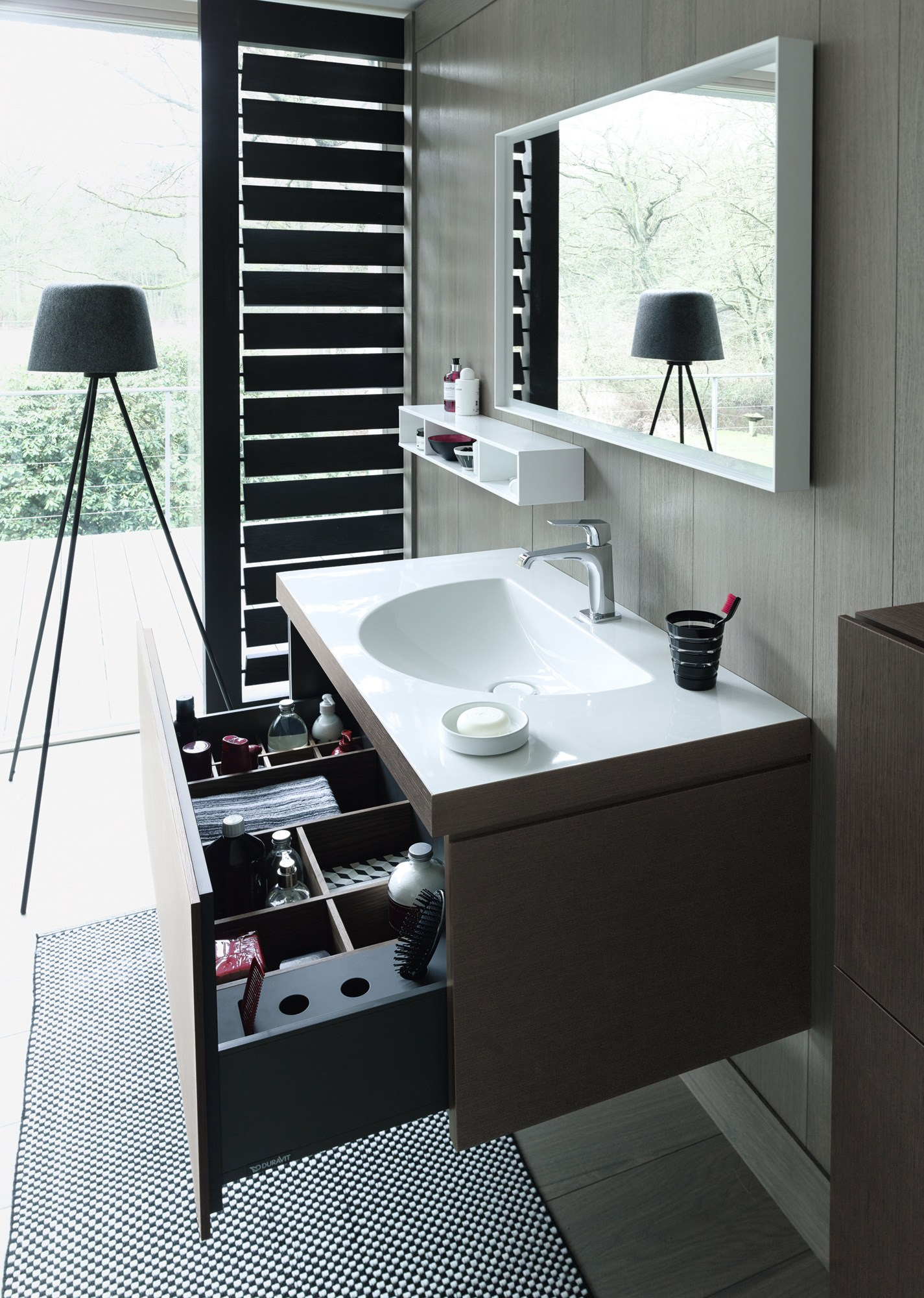 l cube c bonded mobile lavabo sospeso by duravit design christian werner. Black Bedroom Furniture Sets. Home Design Ideas