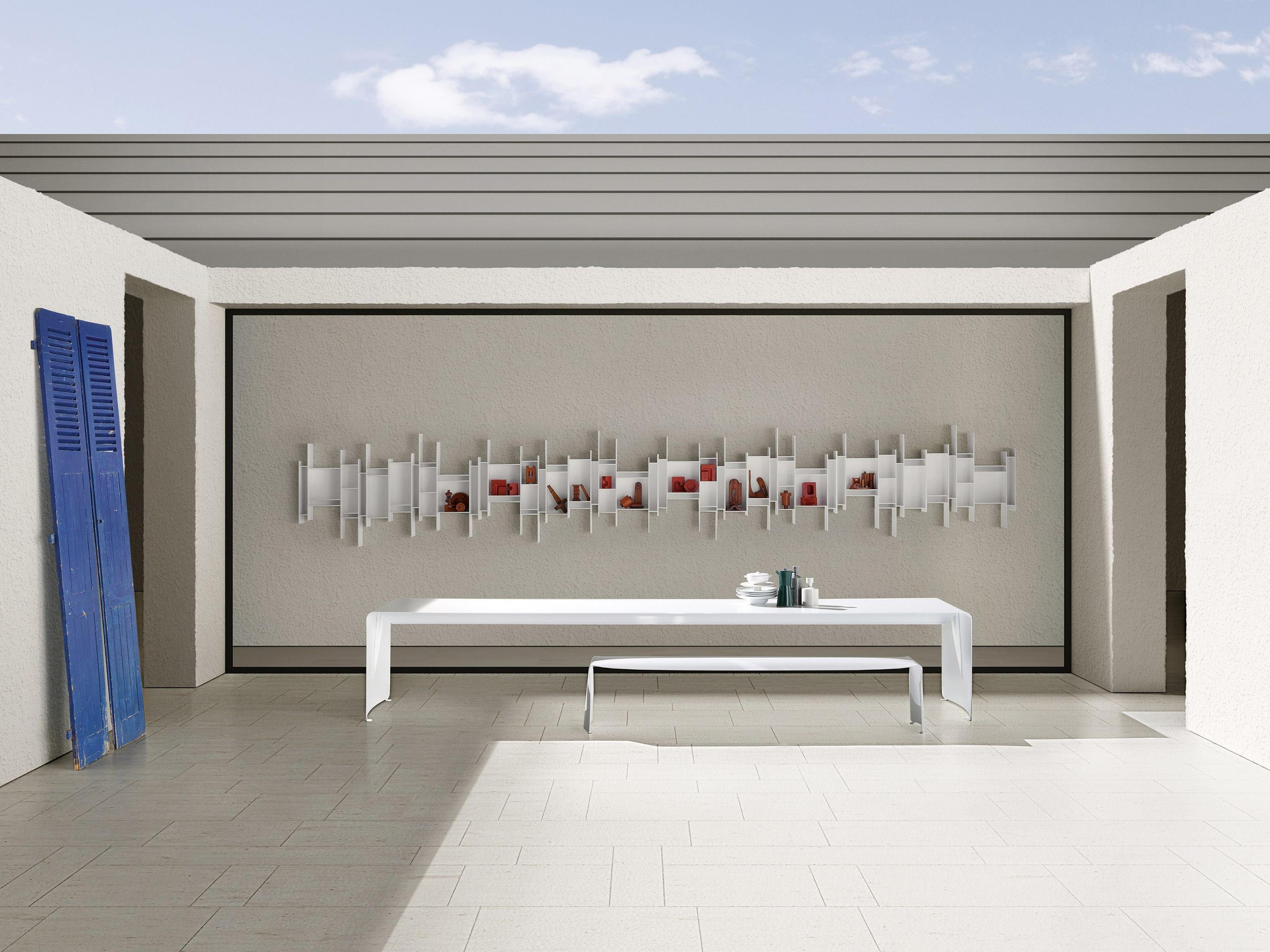 rectangular aluminium table la grande table mdf italia - Grande Table
