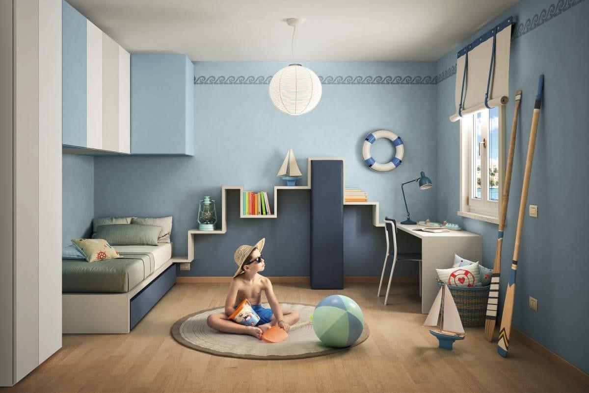 Trundle bed for kids bedroom LAGOLINEA by Lago design Daniele Lago