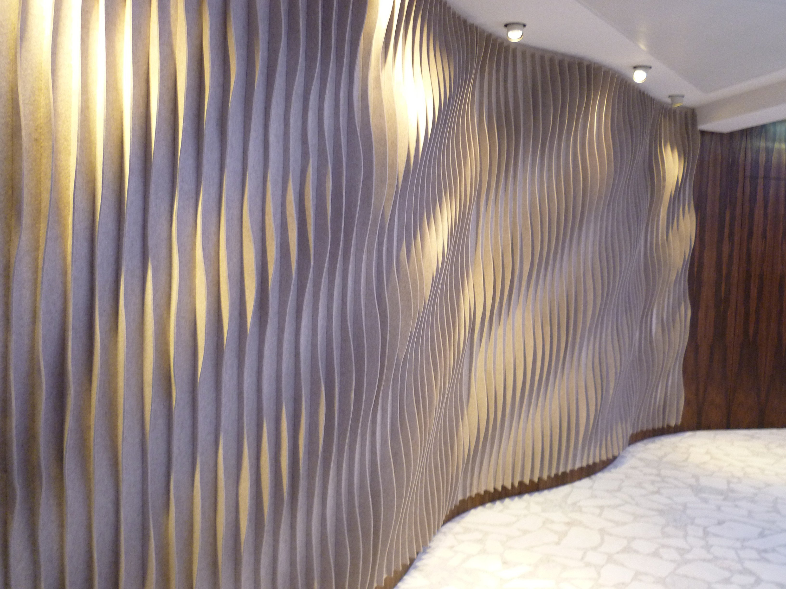Decorative Acoustic Wall Panels laine curved | decorative acoustical panelanne kyyrö quinn