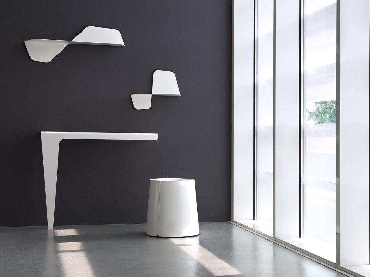 Tavolo consolle a parete lama by meme design design carlo for Consolle di design