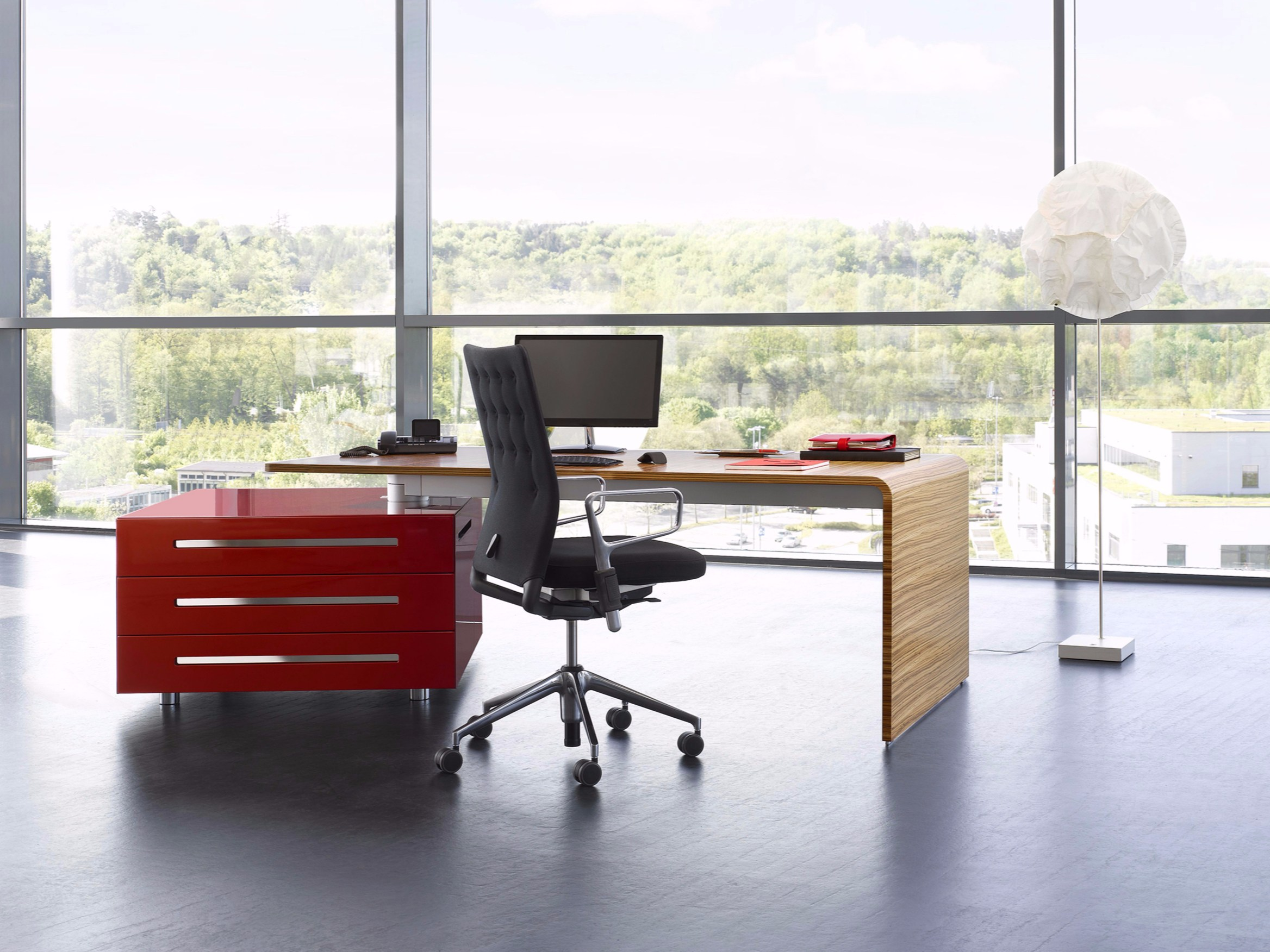 Lane Office Desk With Drawers By Renz Design Jehs Laub