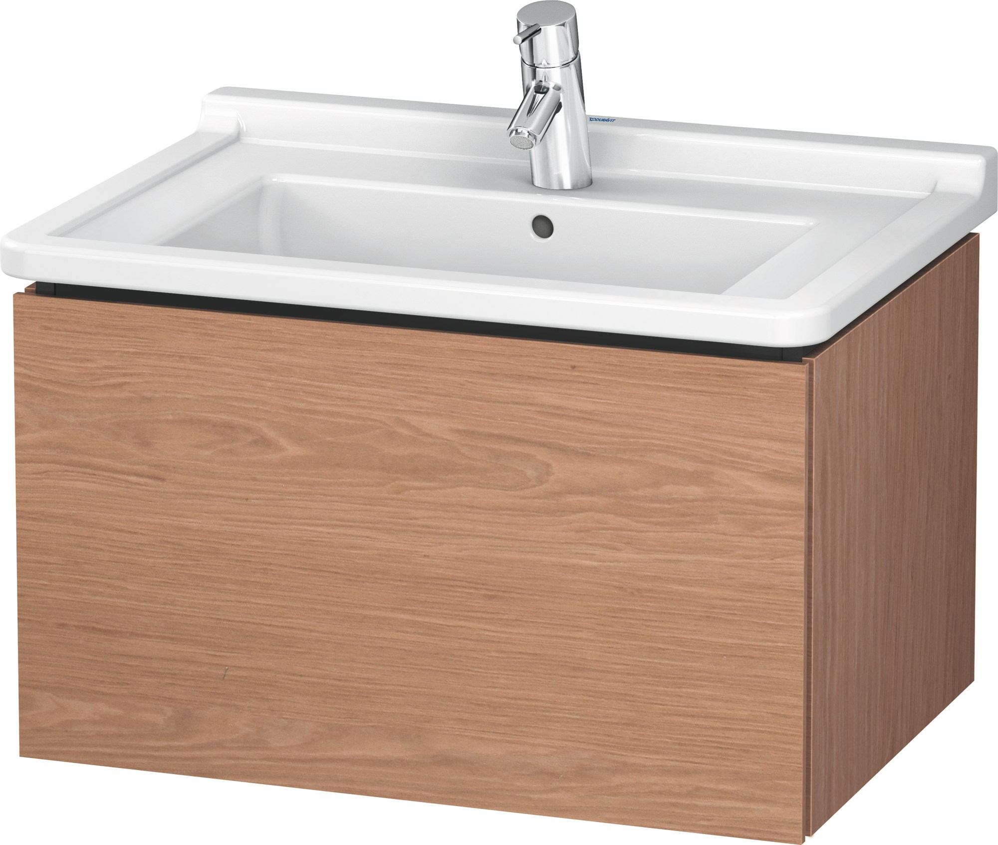Lc 6164 meuble sous vasque by duravit design christian werner for Meuble mural a tiroir