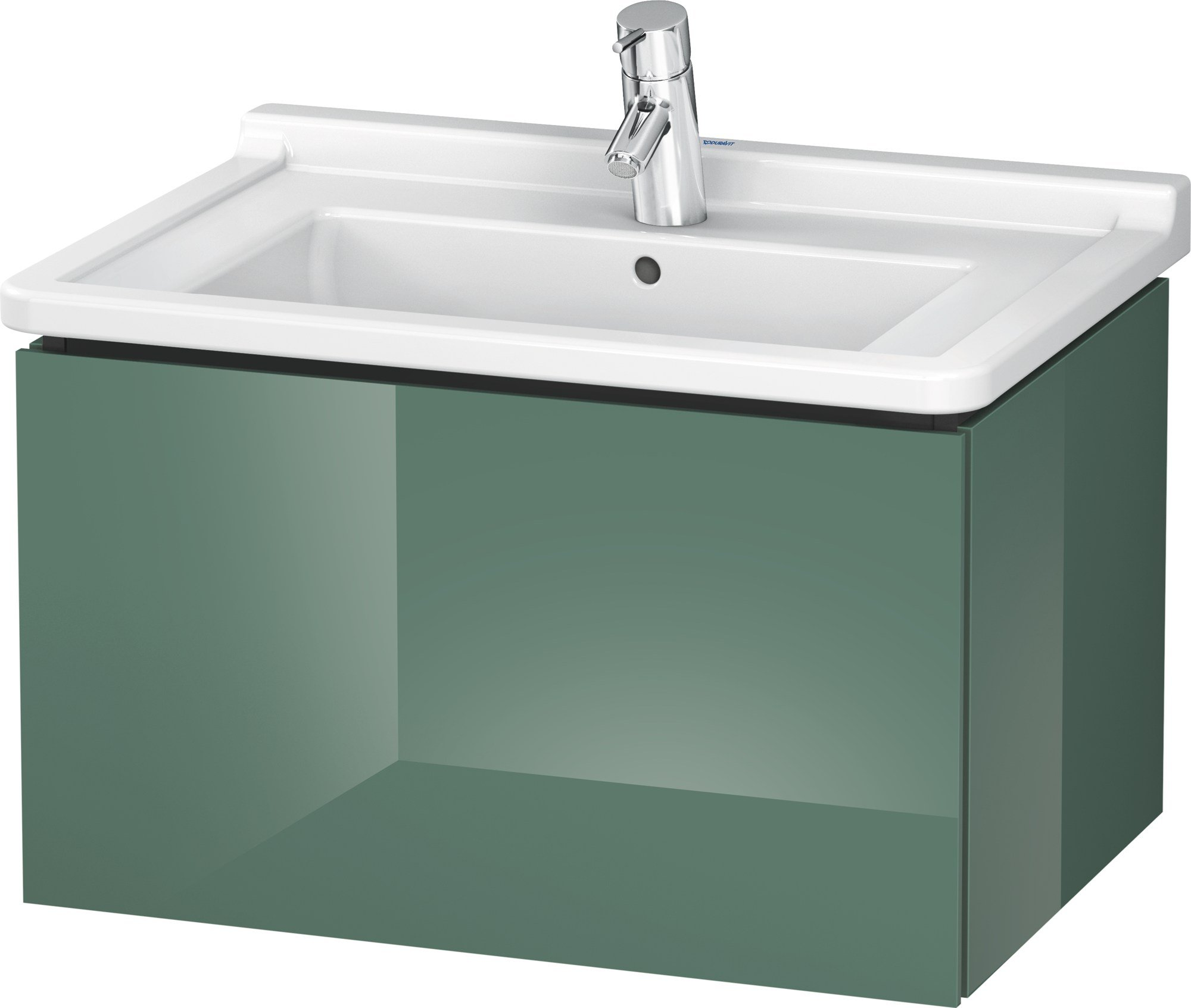 Lc 6164 meuble sous vasque by duravit design christian werner for Meuble mural a tiroirs
