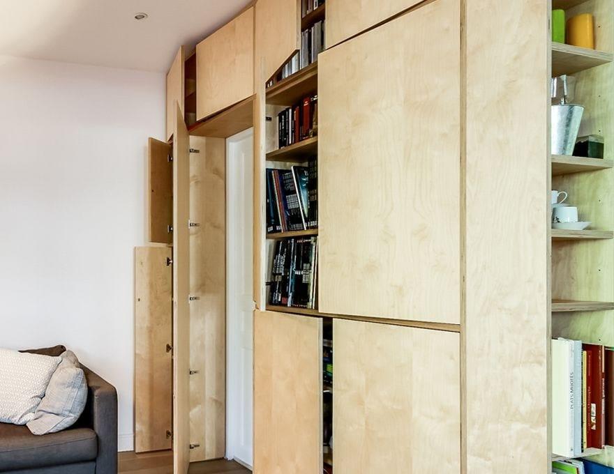 armadio a muro in multistrato le mural by malherbe edition. Black Bedroom Furniture Sets. Home Design Ideas