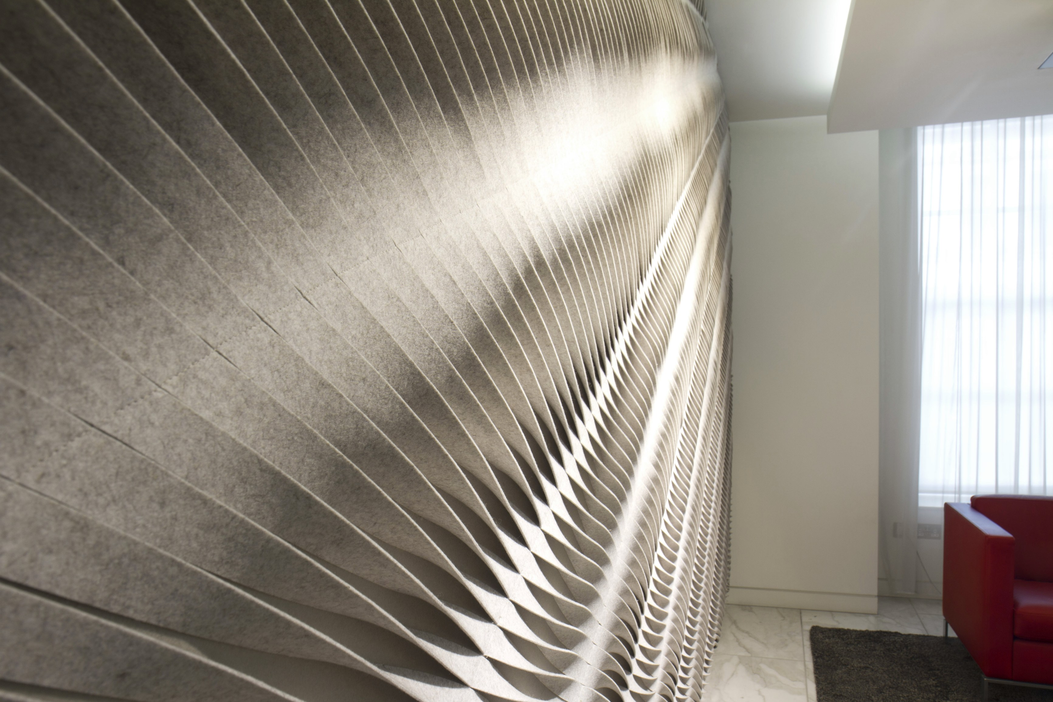 Leaf fabric decorative acoustical panels by anne kyyr quinn design anne kyyr quinn - Decorative acoustic wall panels ...