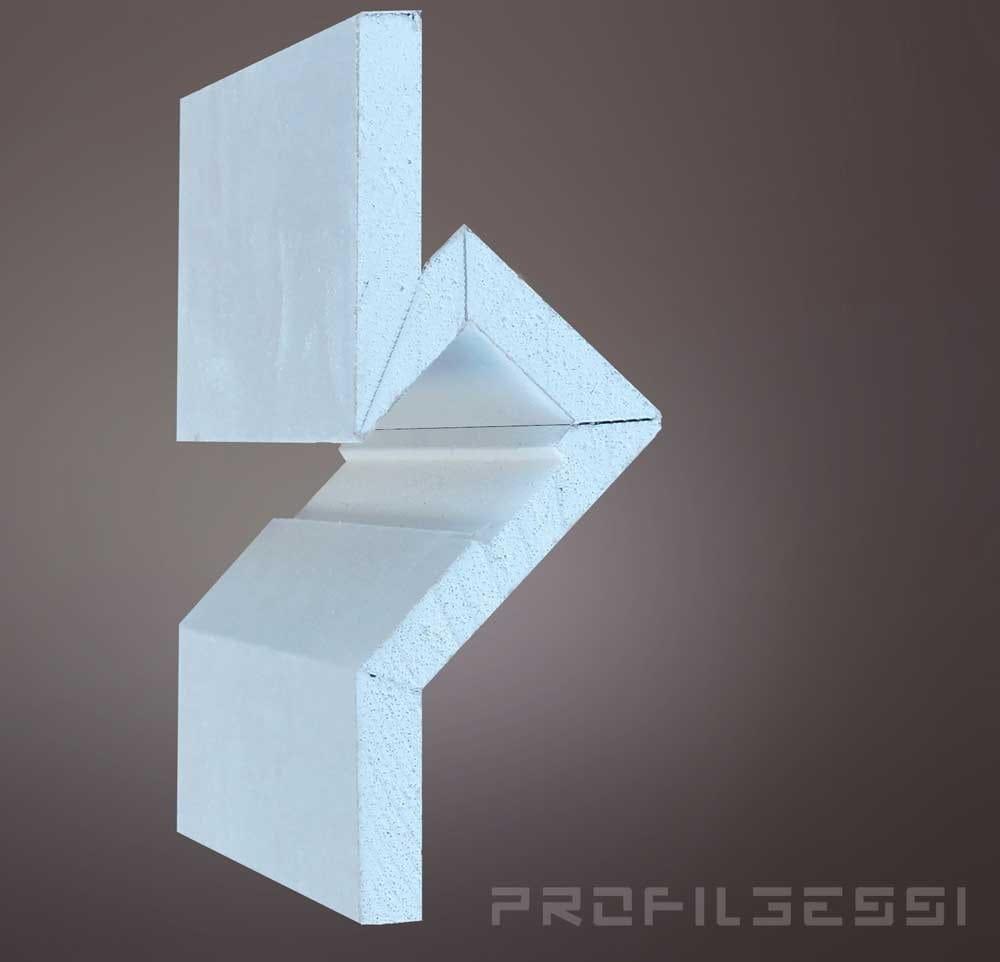 Profilo per illuminazione da parete da incasso per moduli for Segnapassi a led