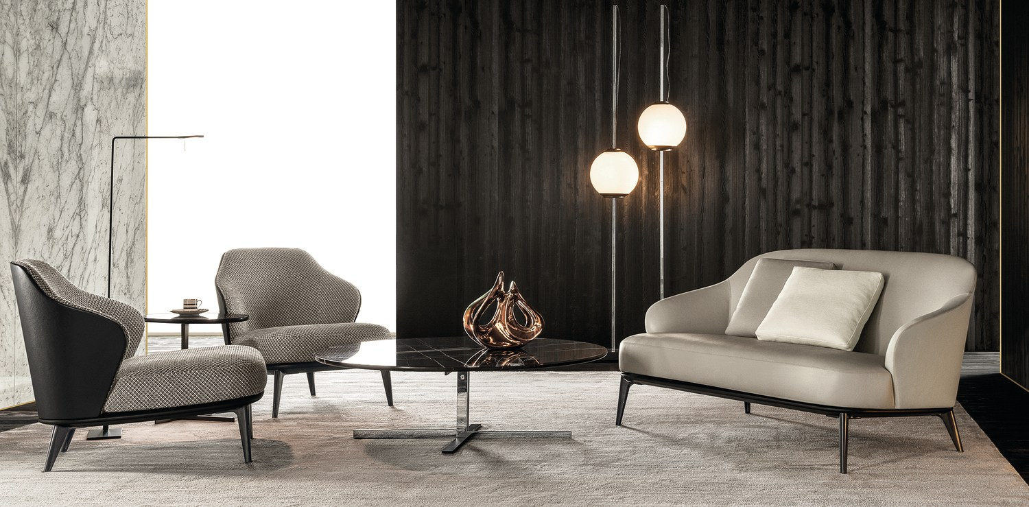 leslie sofa by minotti design rodolfo dordoni. Black Bedroom Furniture Sets. Home Design Ideas