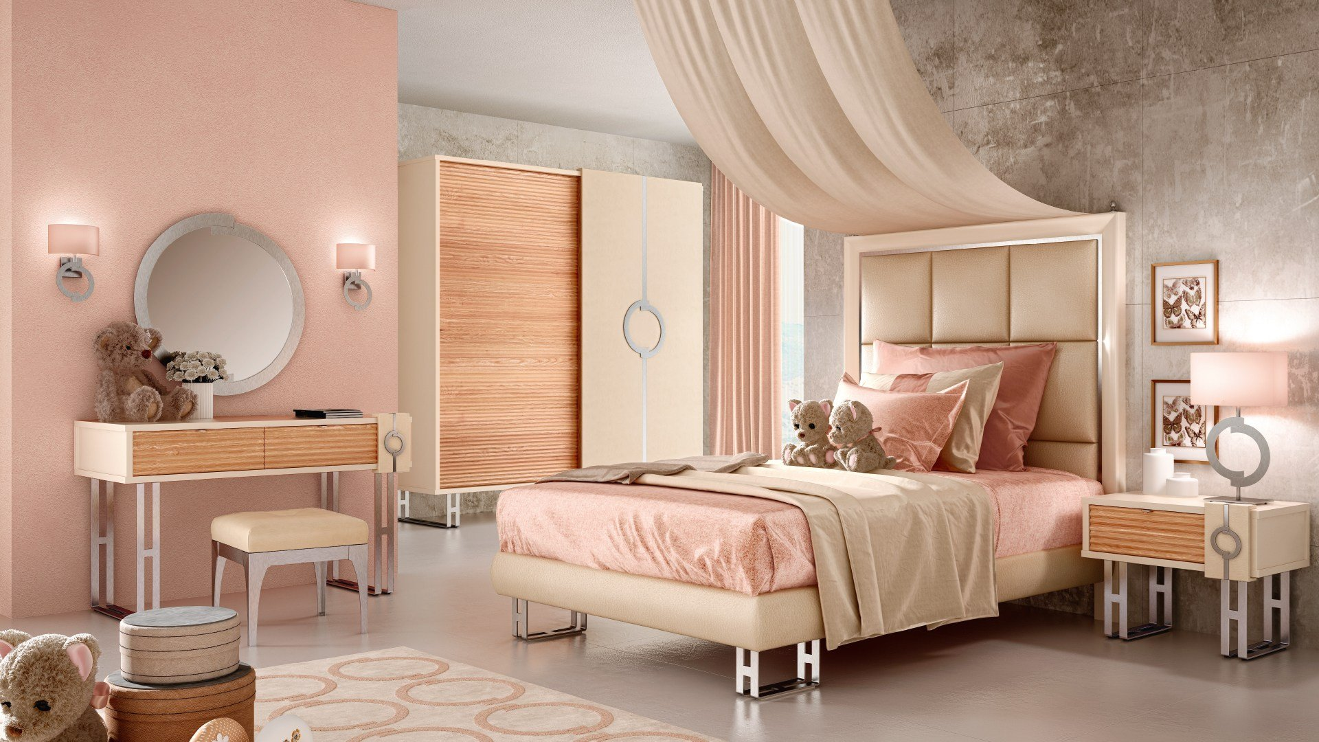 lift letto con testiera imbottita collezione concept by. Black Bedroom Furniture Sets. Home Design Ideas