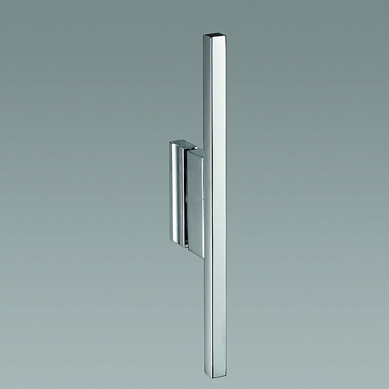 Cabine de douche d 39 angle en aluminium et verre avec porte - Porte battante en verre ...
