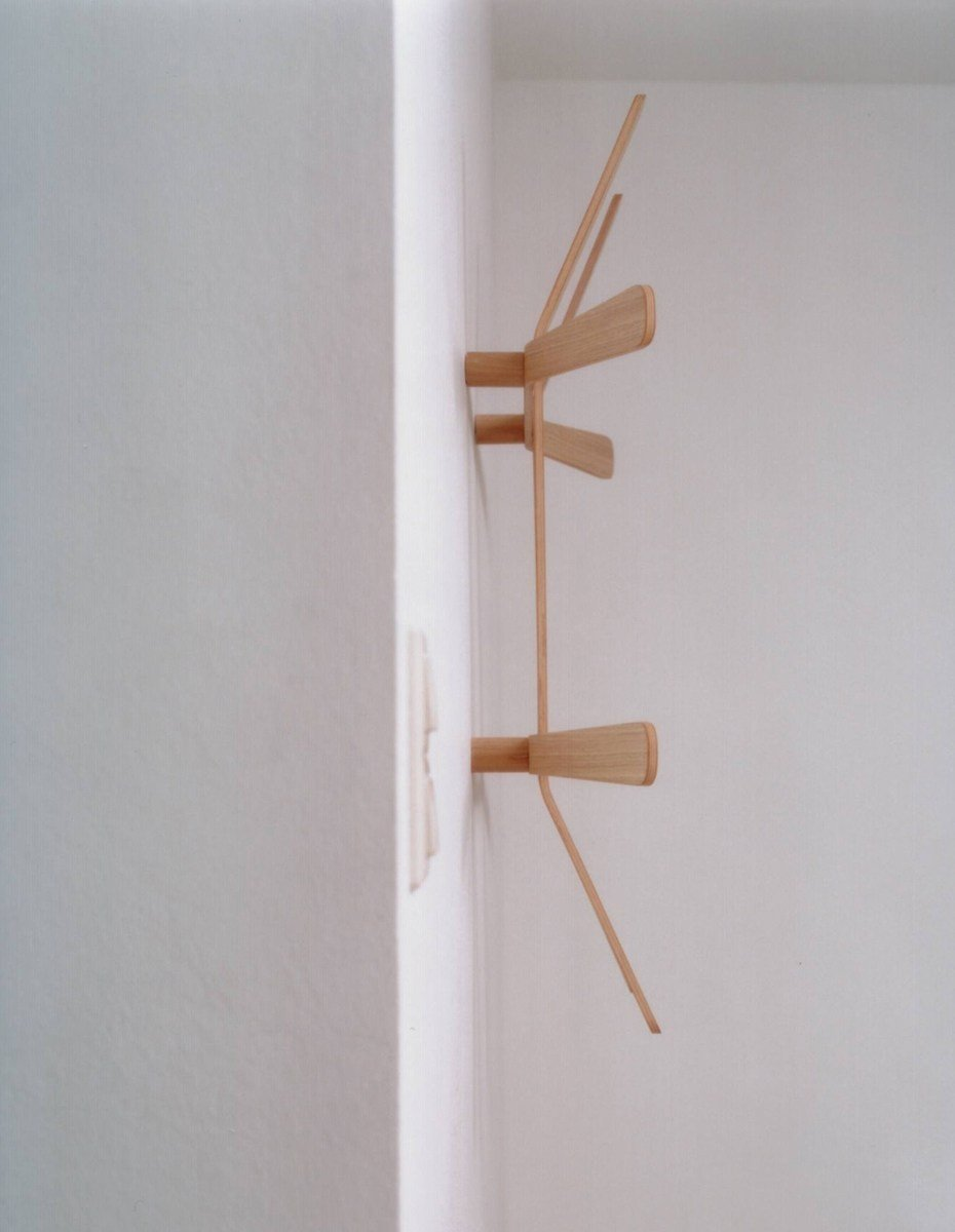 Wall mounted multi layer wood coat rack LILI by MOX design