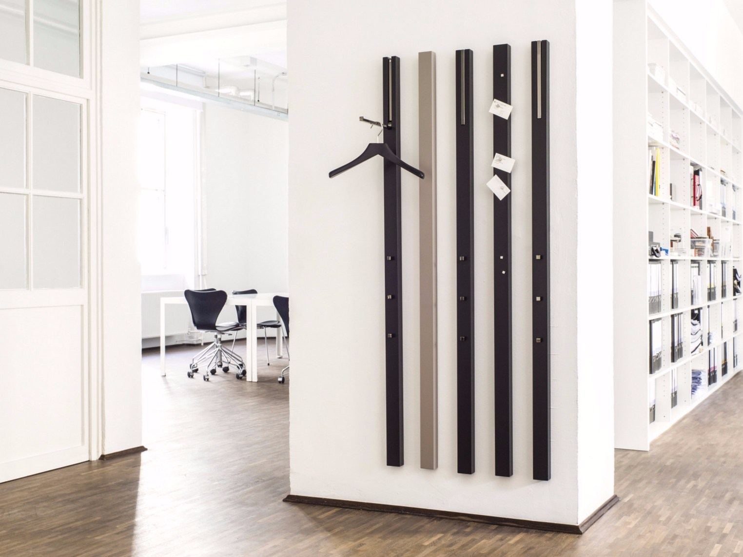 line coat rack by sch nbuch design apartment 8. Black Bedroom Furniture Sets. Home Design Ideas