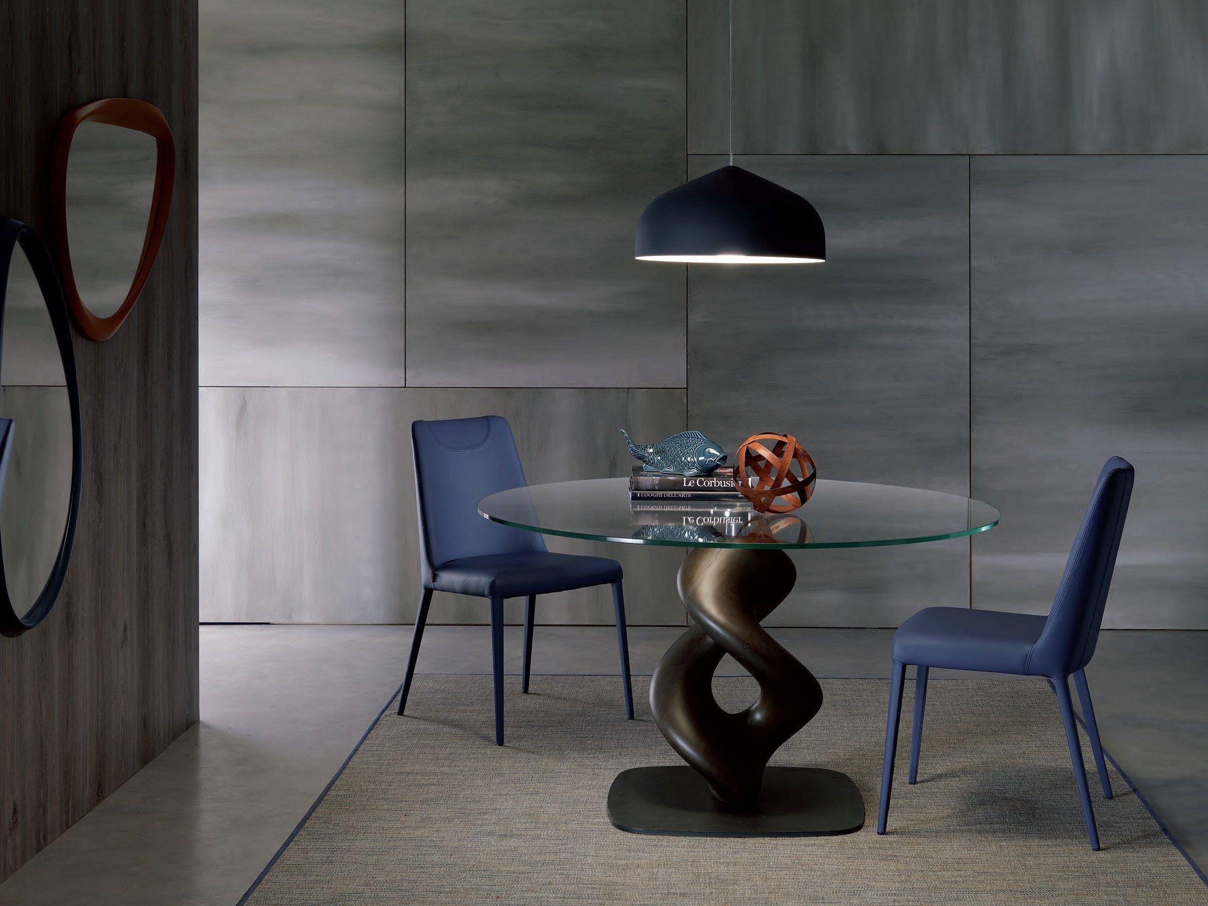 LIQUID Tavolo rotondo by Ozzio Italia design Giulio Manzoni