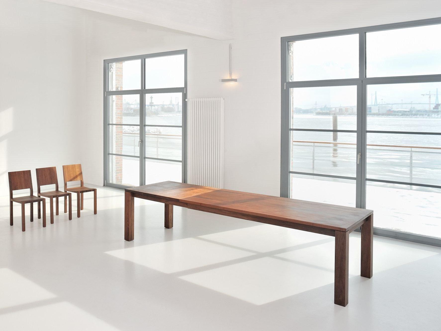 Ausziehbarer rechteckiger Tisch aus massivem Holz LIVING by ...