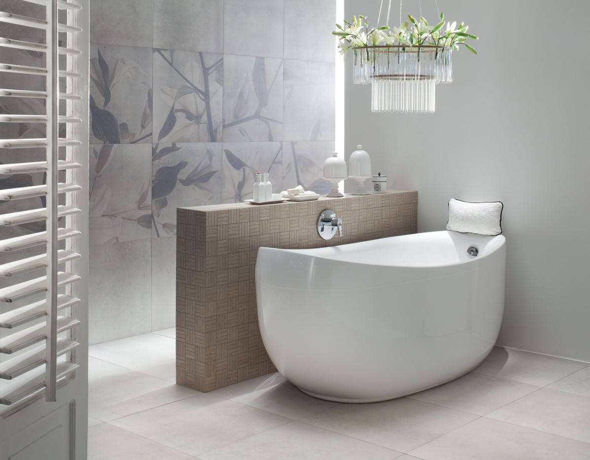 Wall/floor tiles with concrete effect livingstone concrete by tubadzin