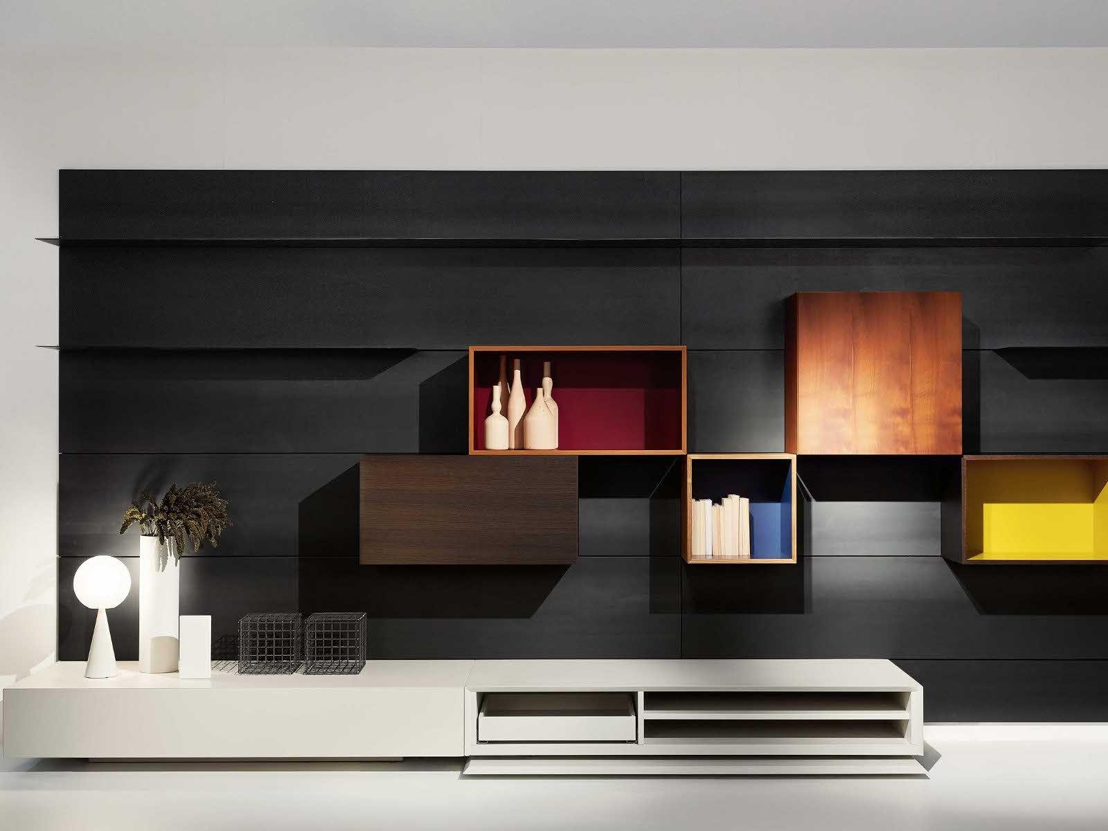 Wandmontierte Wohnwand LOAD IT by Porro Design Piero Lissoni