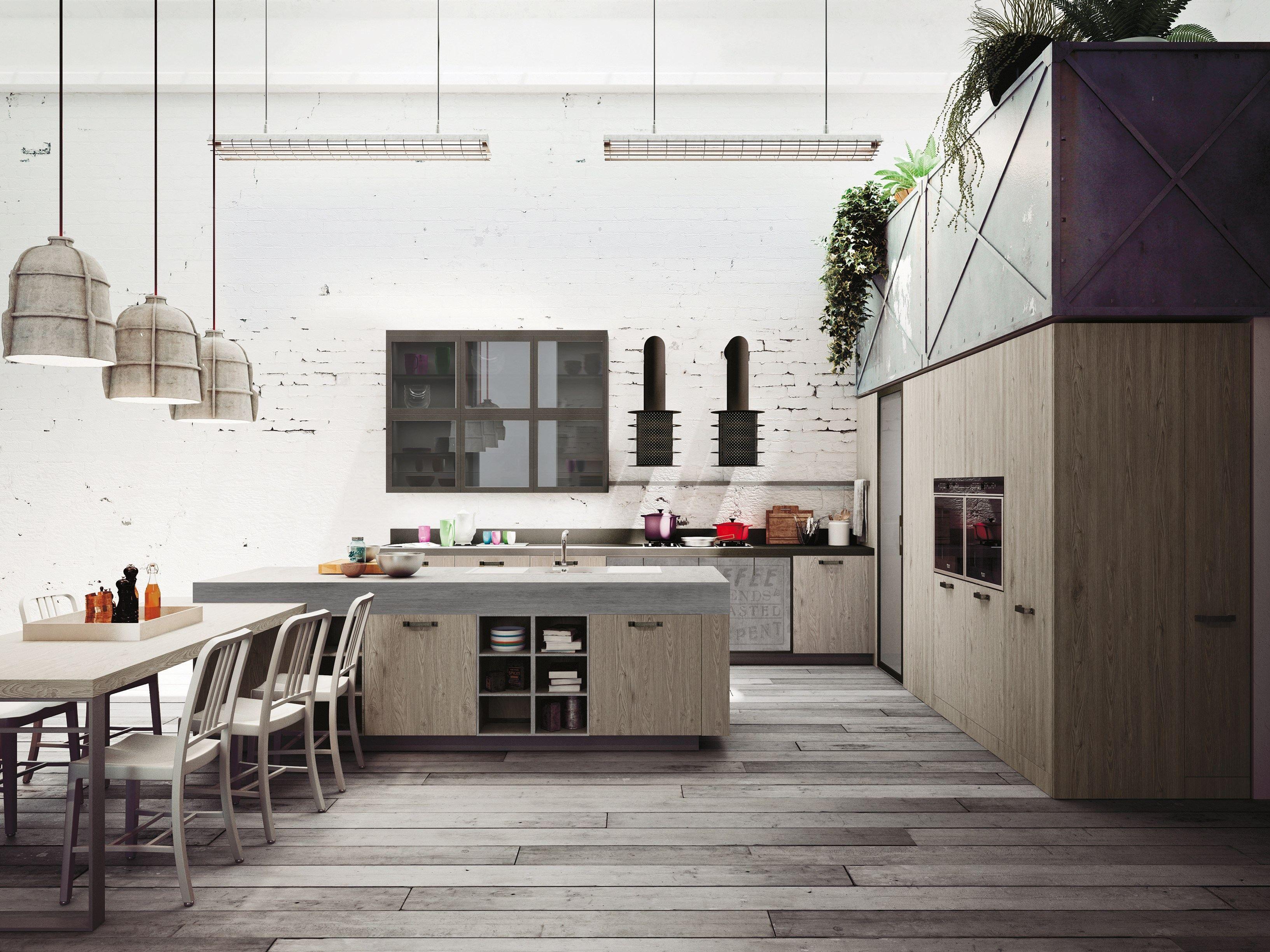 Loft Kitchen Loft Kitchen With Island Sistema Collection By Snaidero Design