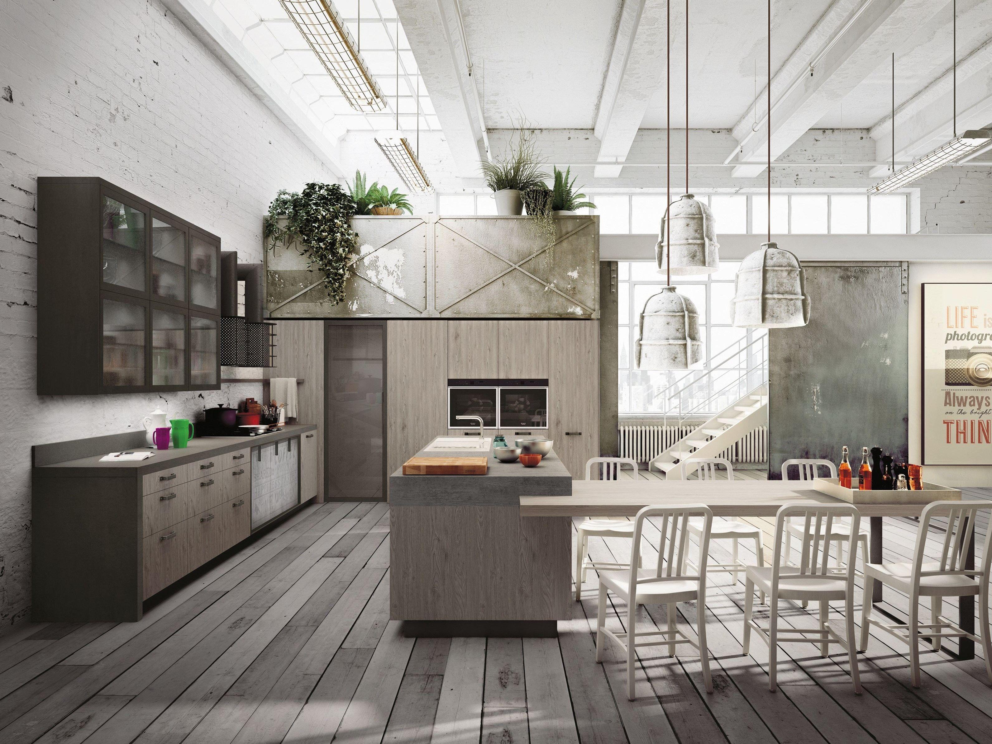 Loft Küche loft küche mit kücheninsel kollektion sistema by snaidero design michele marcon