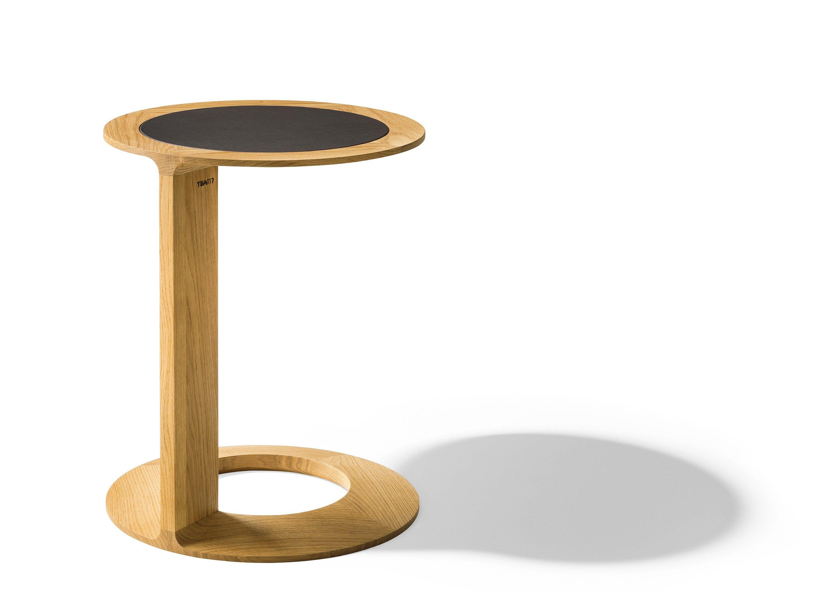 Tavolino Rotondo Legno Essenza Bim : Tavolino di servizio rotondo in legno massello loop by