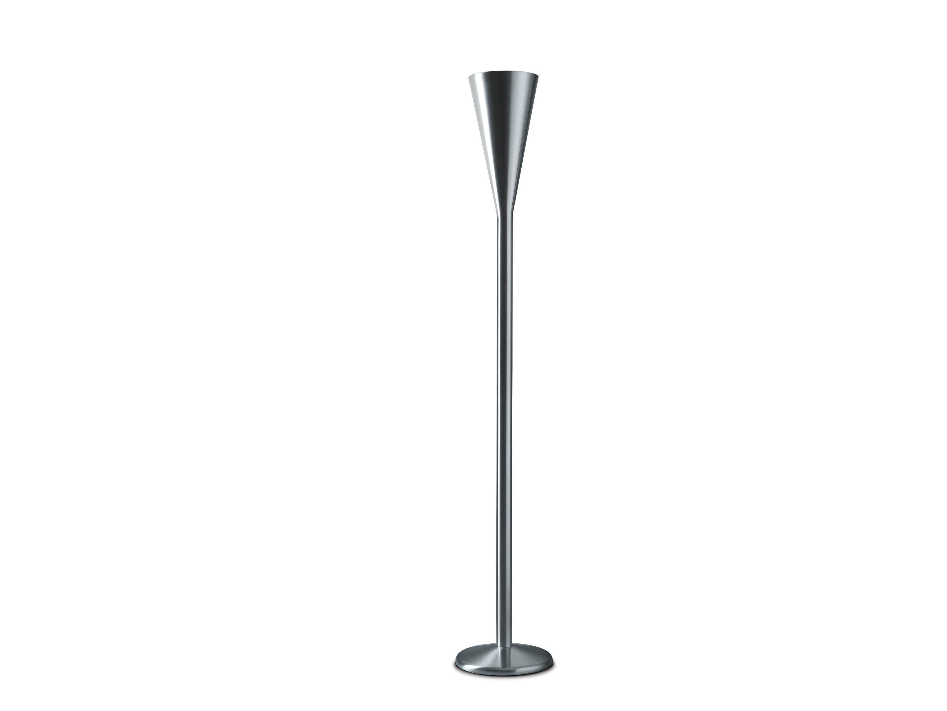 Lampada da terra a luce indiretta con dimmer luminator by for Lampada luminator