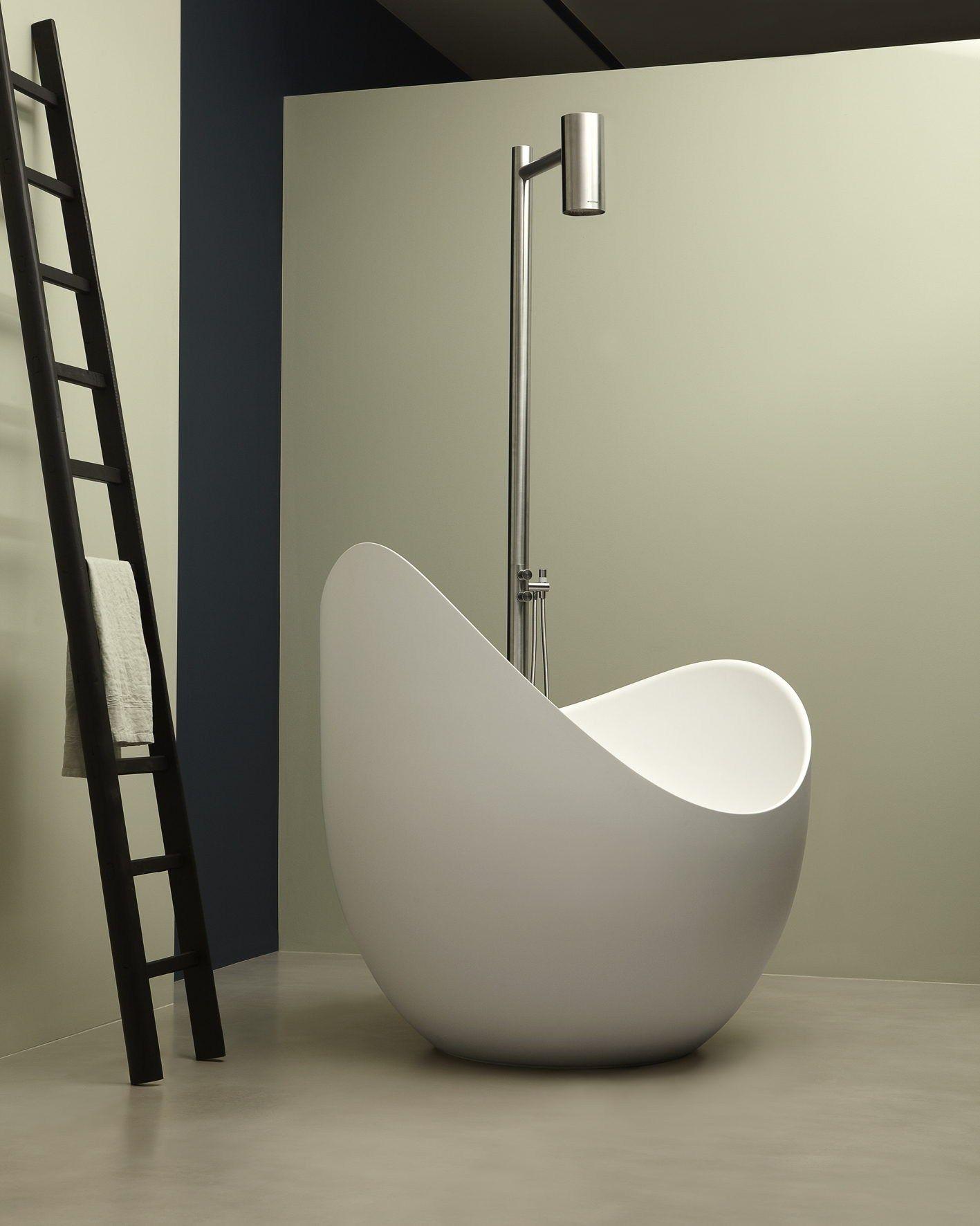 Vasca da bagno centro stanza ovale in Cristalplant® LUNETTA by Antonio Lupi Design® design ...