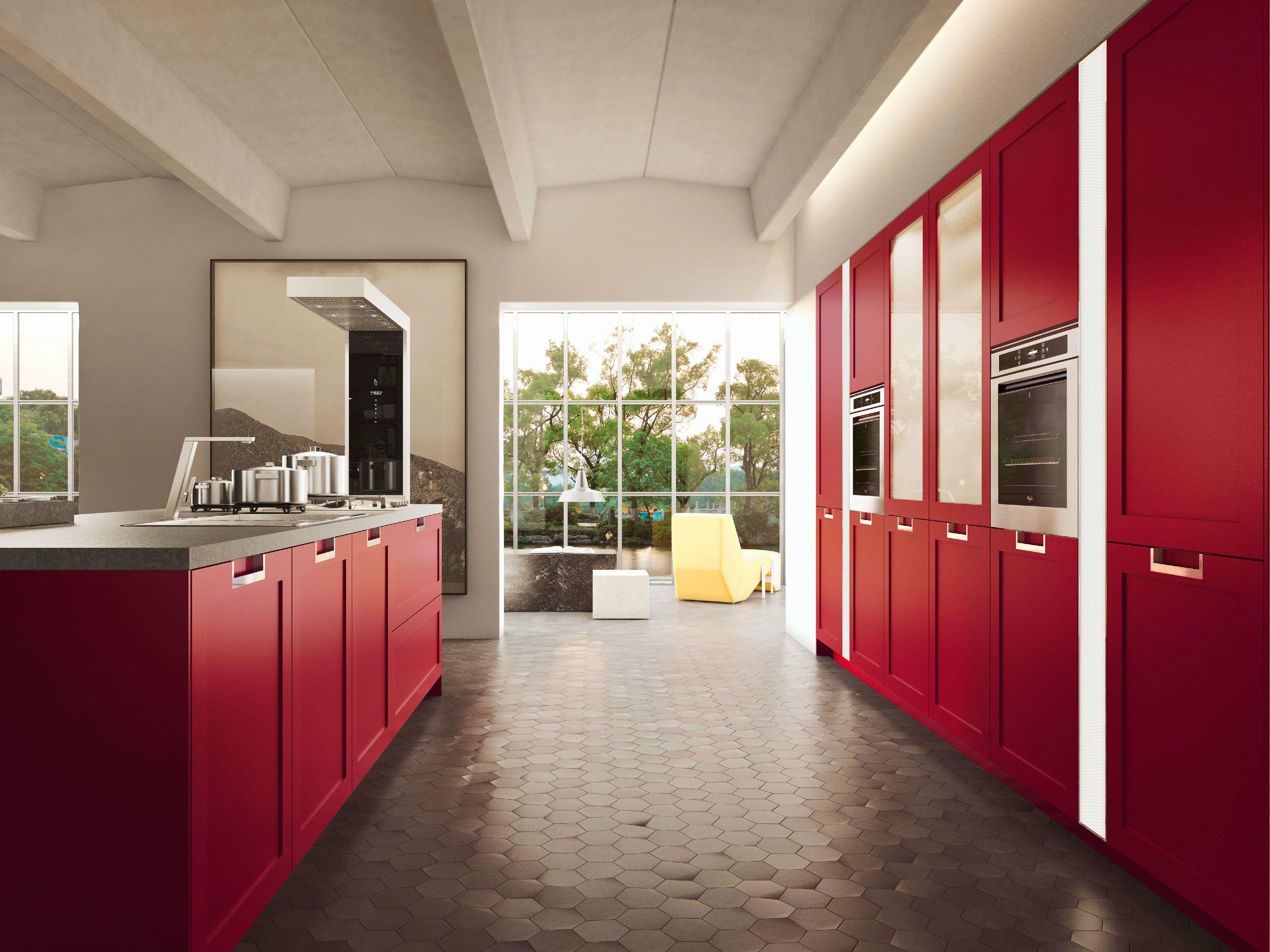 Lux classic cucina con isola collezione sistema by snaidero design pietro arosio - Mobili snaidero majano ...