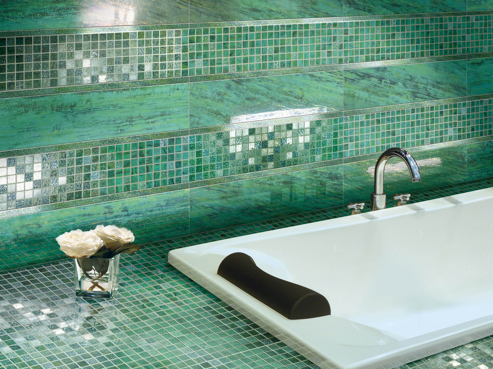 Piastrelle bagno verde acqua design casa creativa e mobili