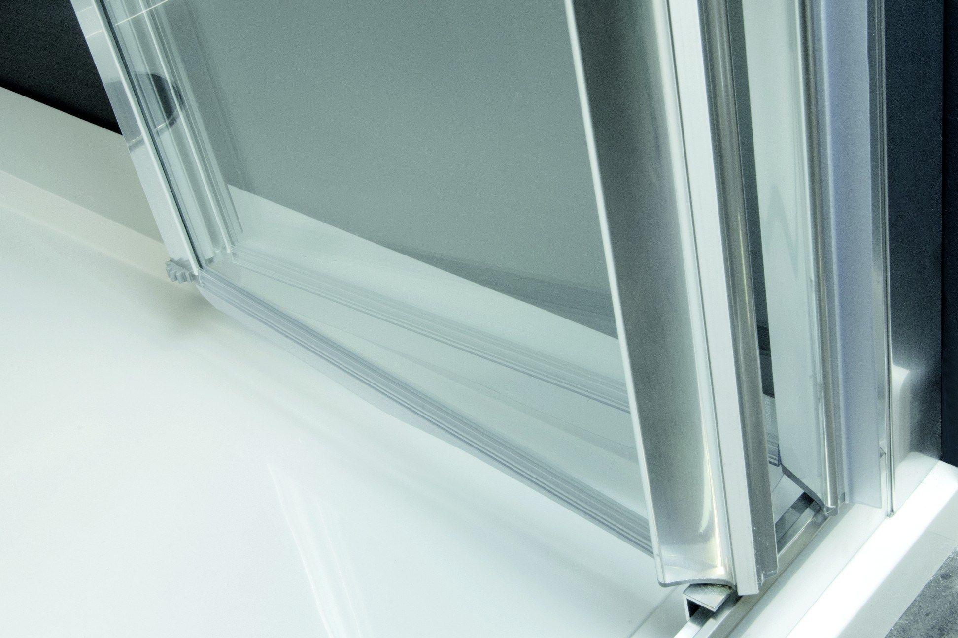 Box doccia angolare in alluminio e vetro con porte a soffietto LYRA PS + F by RELAX