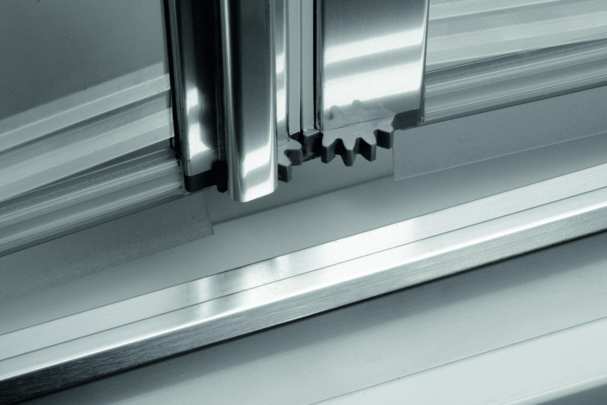 Box doccia a nicchia in alluminio e vetro con porte a soffietto LYRA PS by RELAX