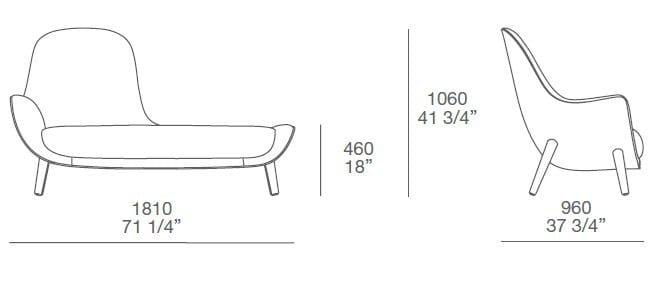 chaise longue rembourr e en tissu mad chaise longue by poliform design marcel wanders. Black Bedroom Furniture Sets. Home Design Ideas