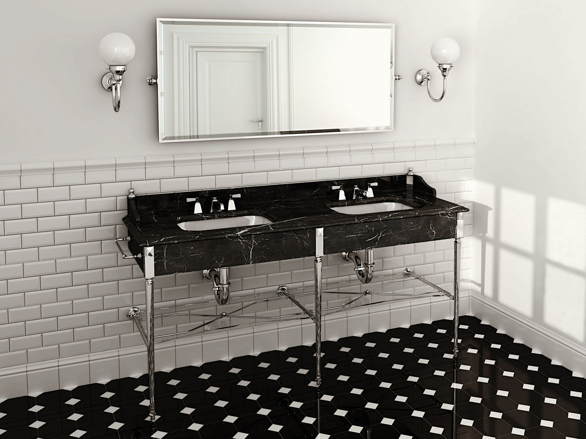 madison double washbasin by devon devon. Black Bedroom Furniture Sets. Home Design Ideas