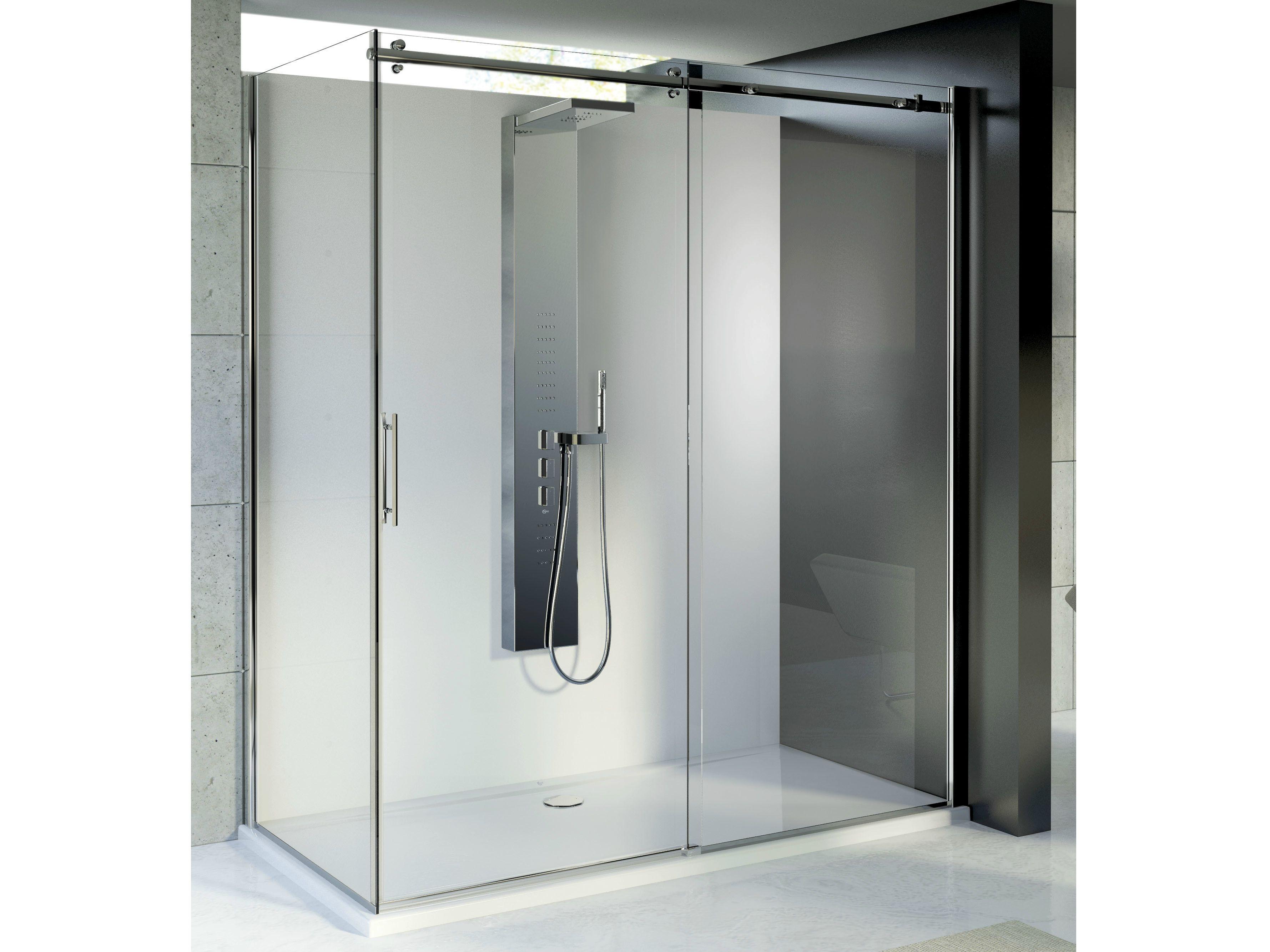 Magnum box doccia con porte scorrevoli by ideal standard - Porte scorrevoli bagno ...