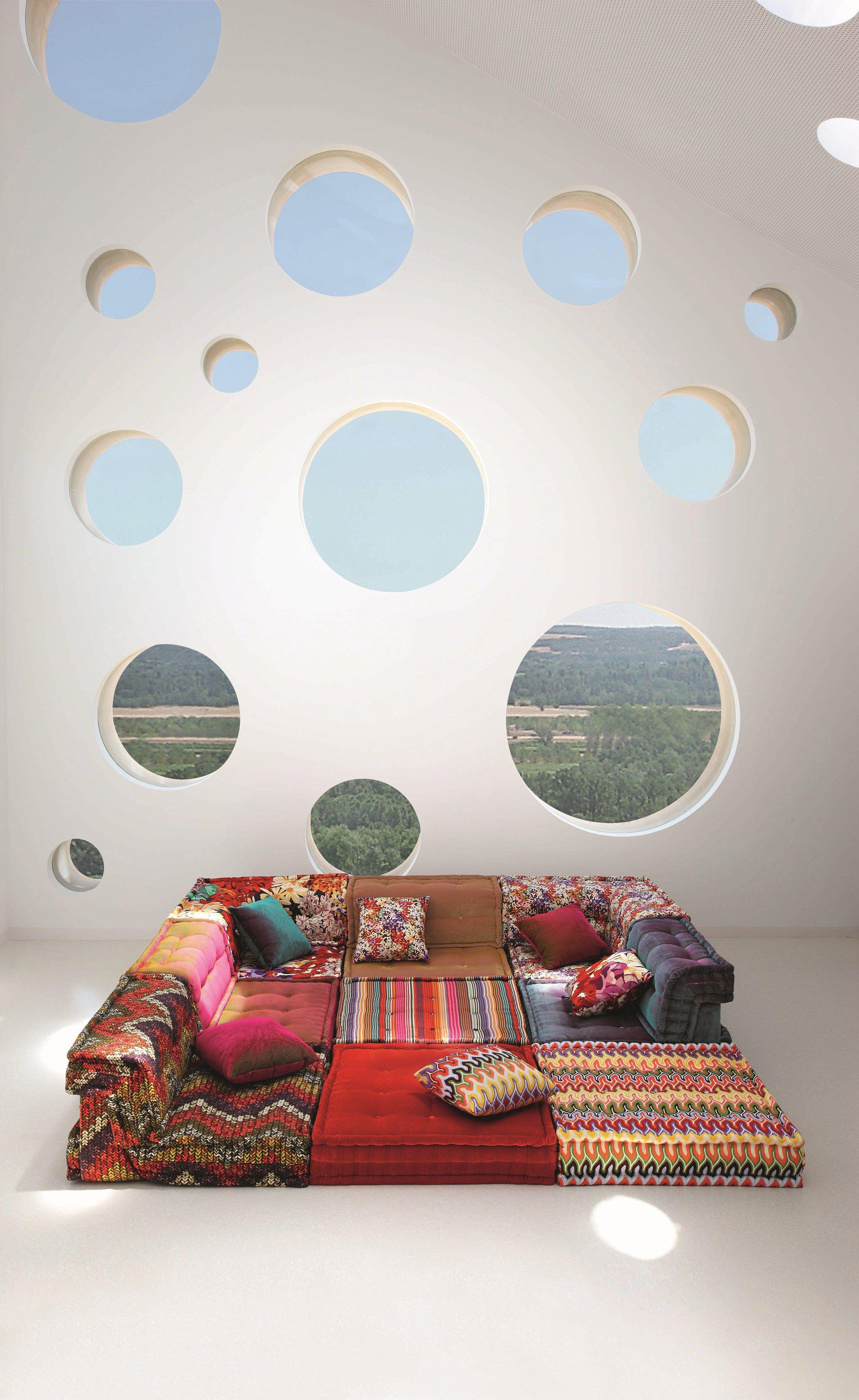 canap composable en tissu mah jong missoni home by roche bobois design hans hopfer. Black Bedroom Furniture Sets. Home Design Ideas